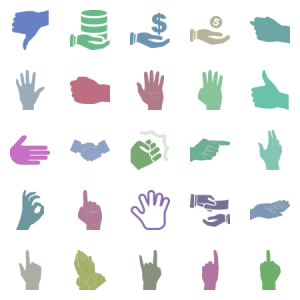 Black Hand Svg Icons