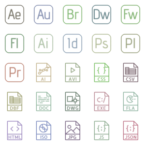 Smashicons File Types Outline