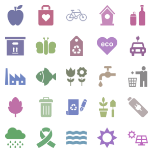 Ecology Green Environment Glyph Icons
