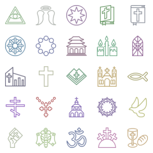 Smashicons Religion Outline