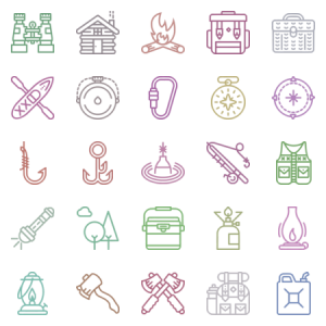 Smashicons The Outdoors Outline
