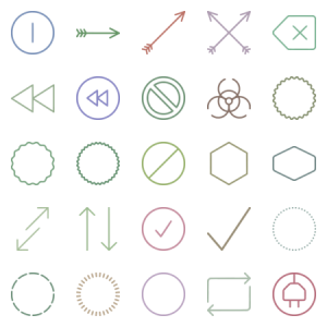Unigrid Symbols Arrows