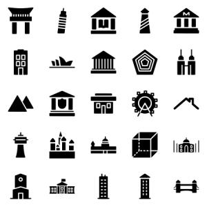 Buildings Landmarks Set