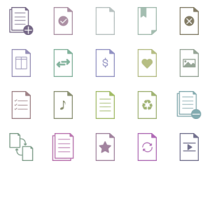 Simple Paper Icon Set
