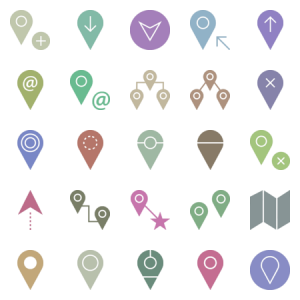 Gps And Maps Glyph