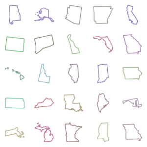 Us State Maps Strokes