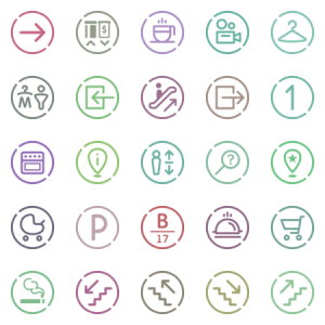 Wayfinding System Basic Icon Set