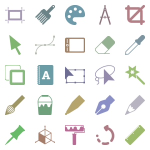 24 graphic design tools icons packs free downloads