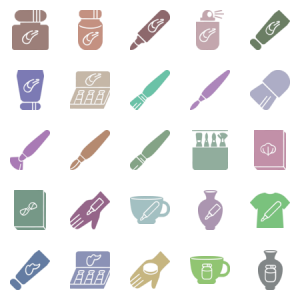 Stuff For Painting And Art In Glyph Style