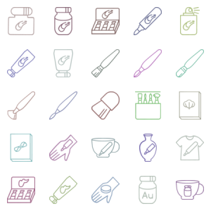 Stuff For Painting And Art In Line Style