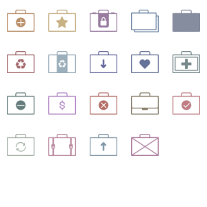 Bags Simple Icons