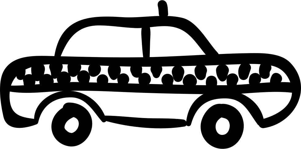 Taxi Hand Drawn Vehicle