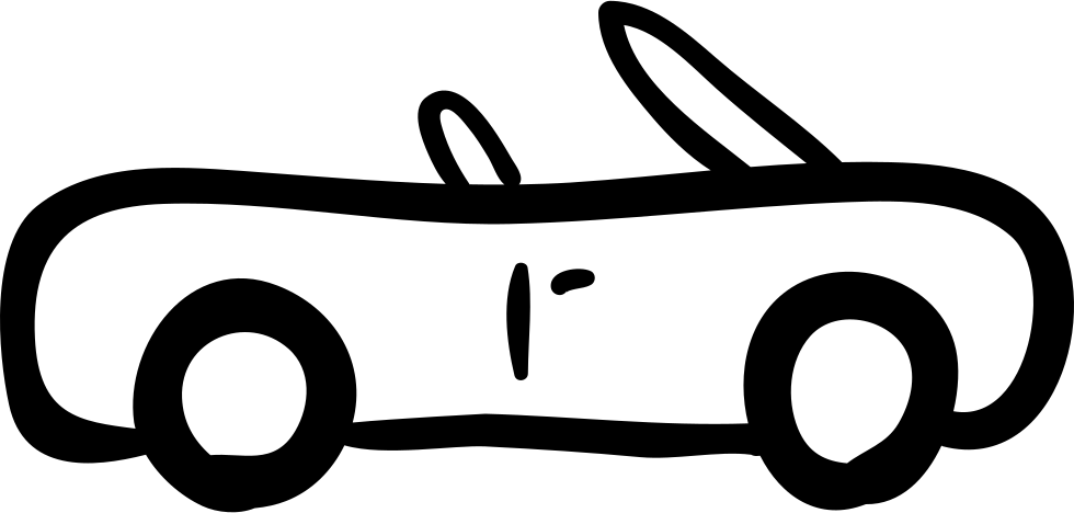 Sportive Car Hand Drawn Outline