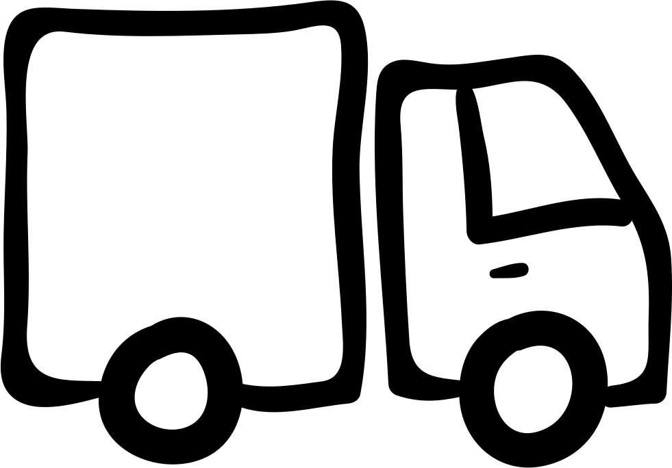 Truck Hand Drawn Vehicle With Container
