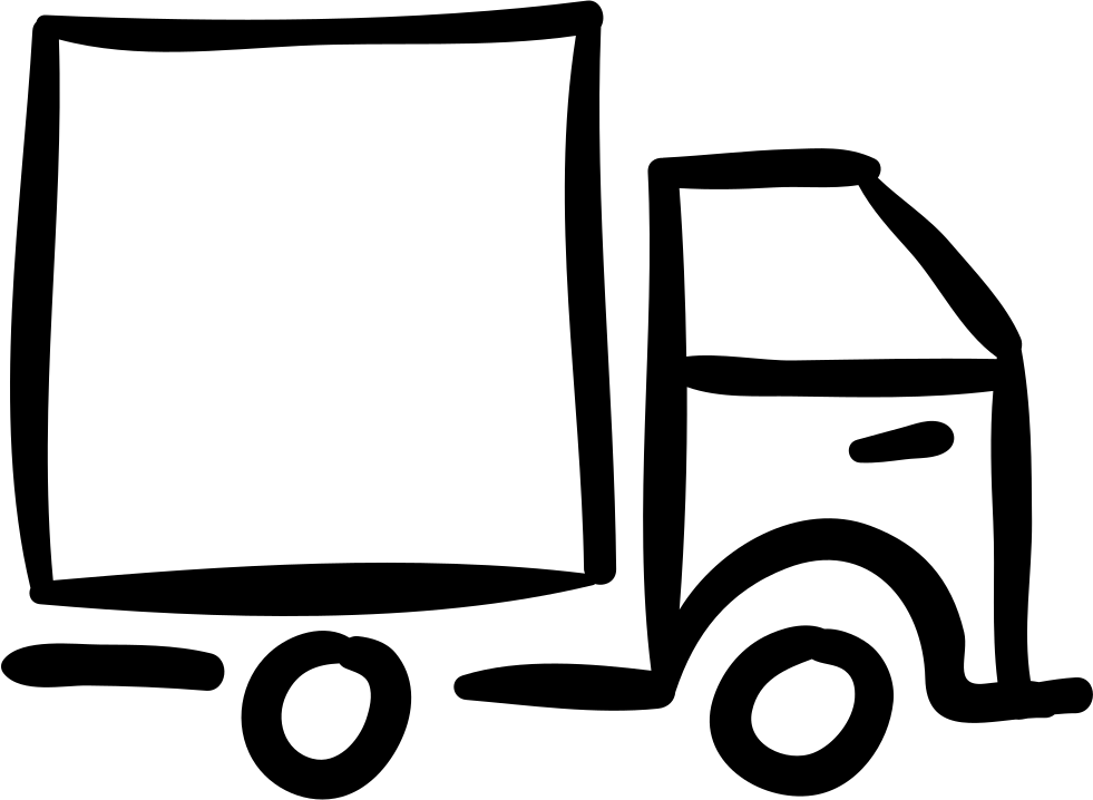 Truck Hand Drawn Outlined Vehicle