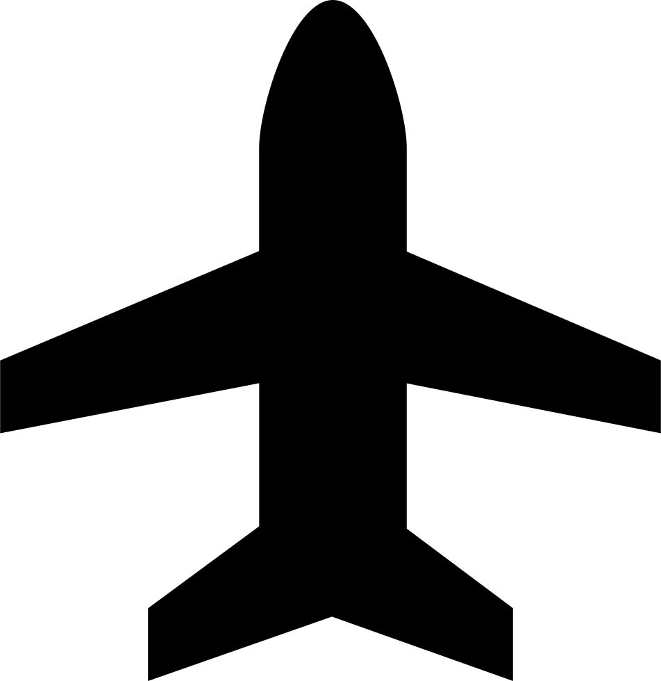 Vertical Airplane Shape Symbol
