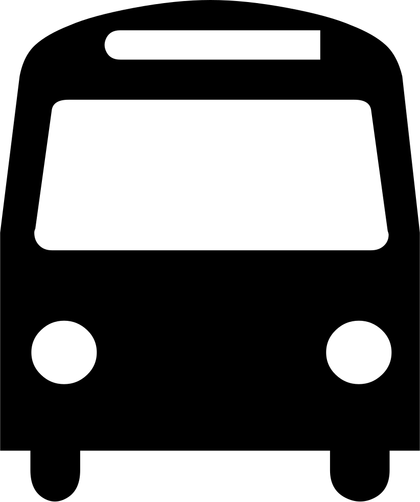 Frontal Bus Silhouette