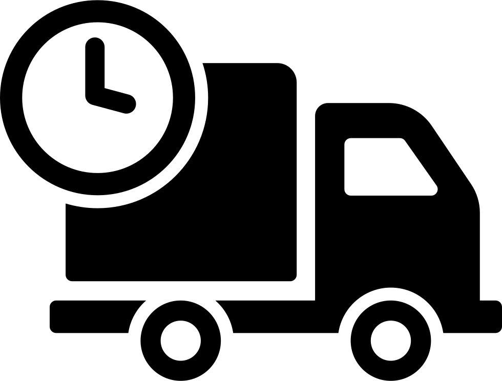 Delivery Truck With Circular Clock