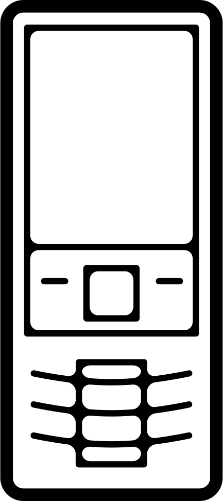 Mobile Phone Variant With Buttons Outline