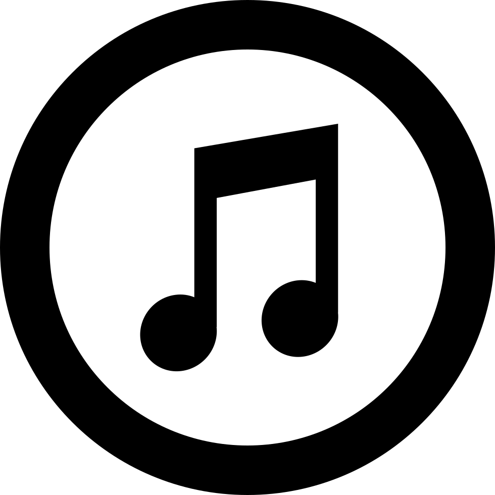 Itunes Logo Amusical Note Inside Circle