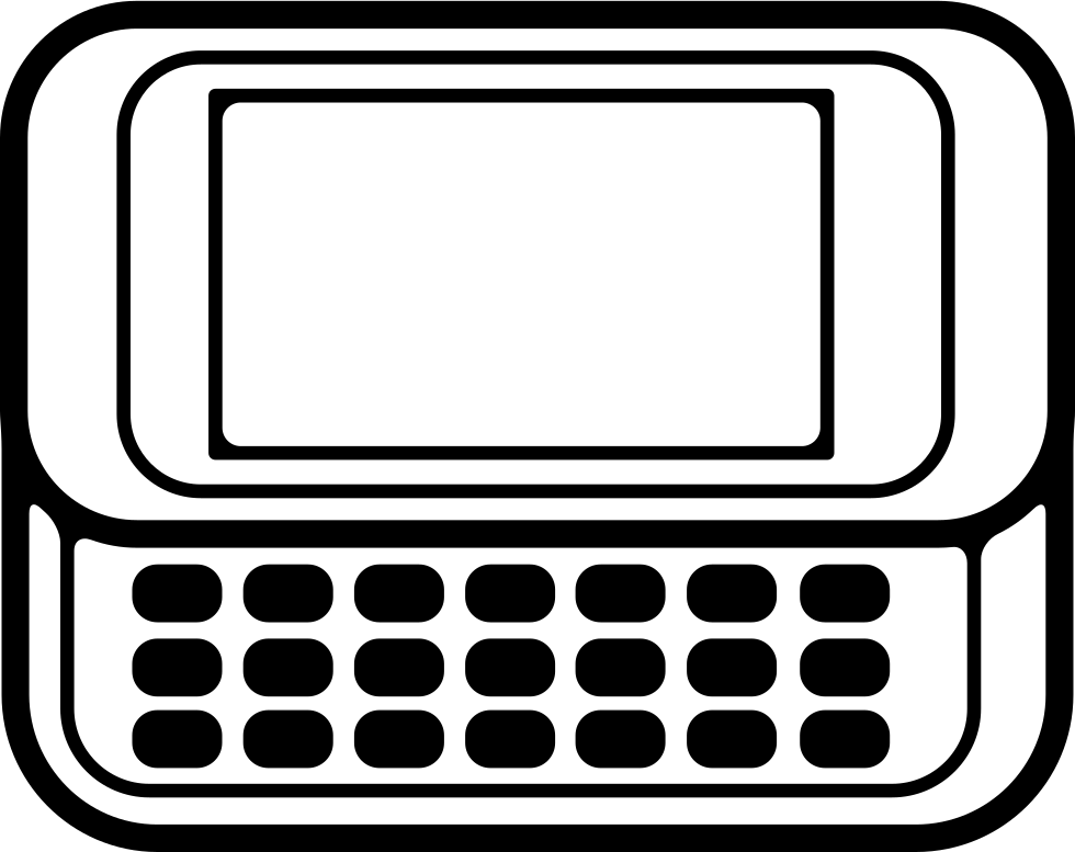 Horizontal Mobile Phone With Keyboard
