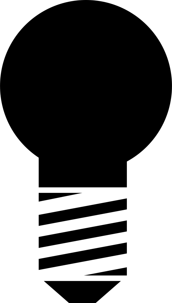 Lightbulb Black Shape