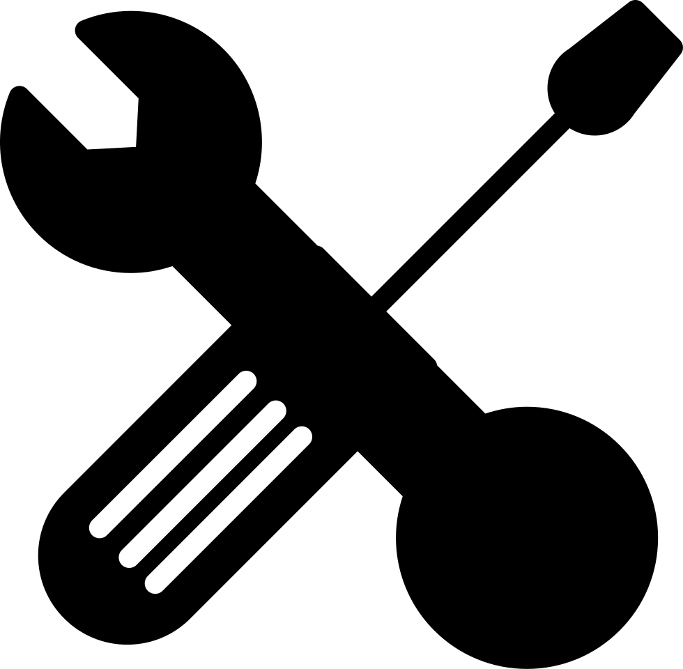 Wrench And Bolt Tool And Screwdriver Outline