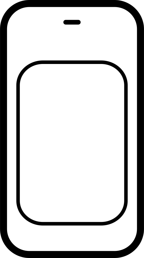 Mobile Phone Outline Variant