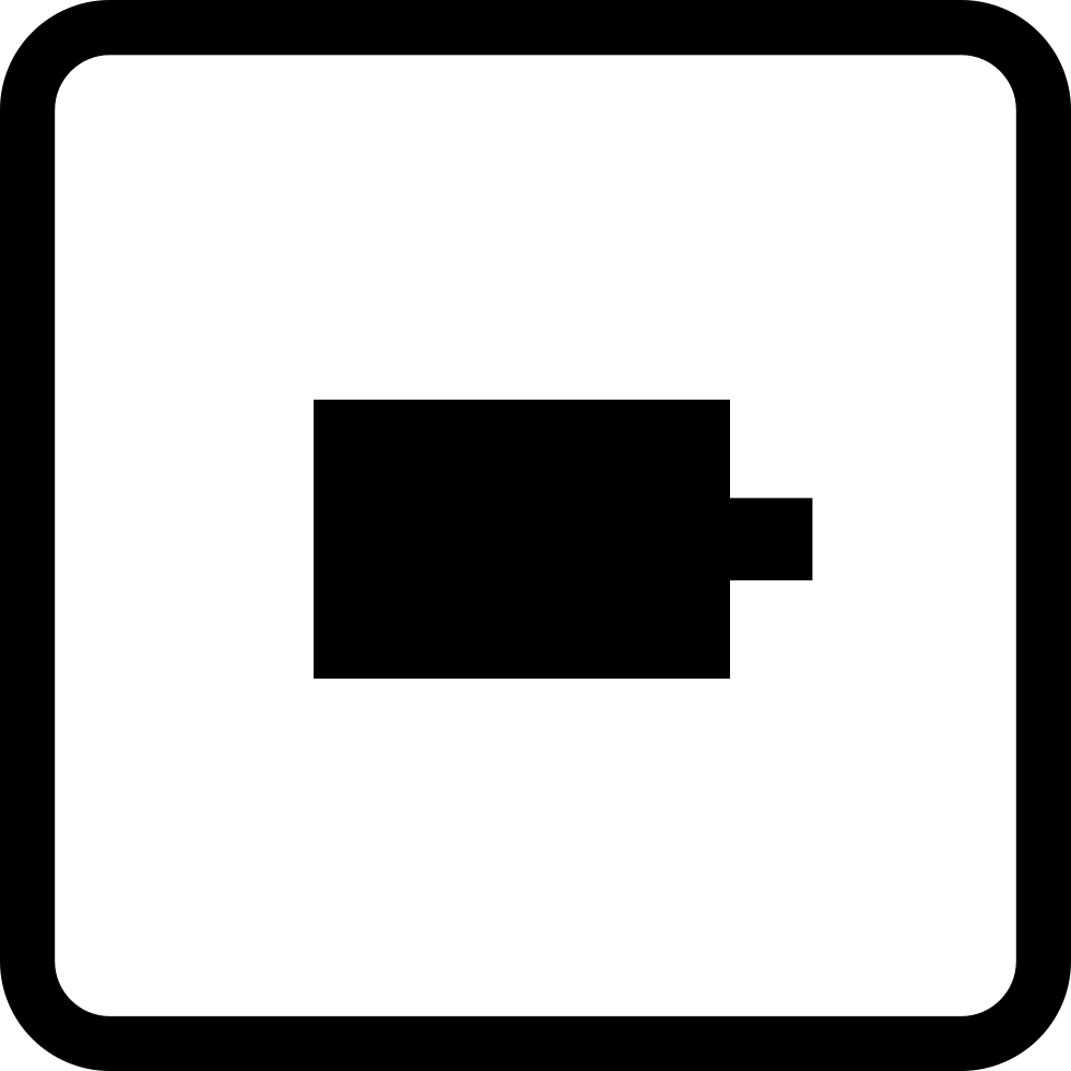 Video Camera Square Button Symbol