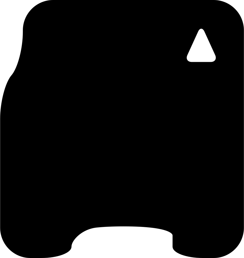 Phone Card Of Square Rounded Black Shape