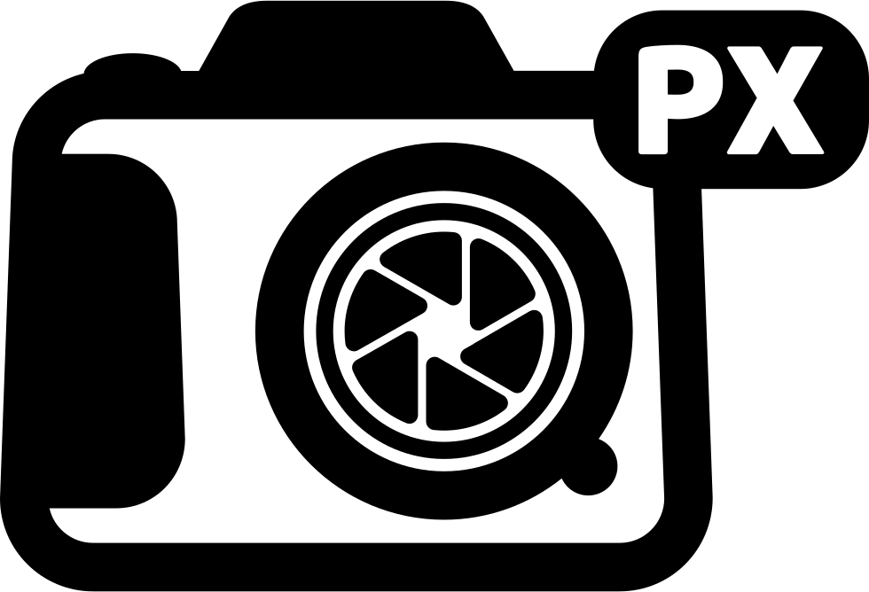 Photo Camera With Px Sign