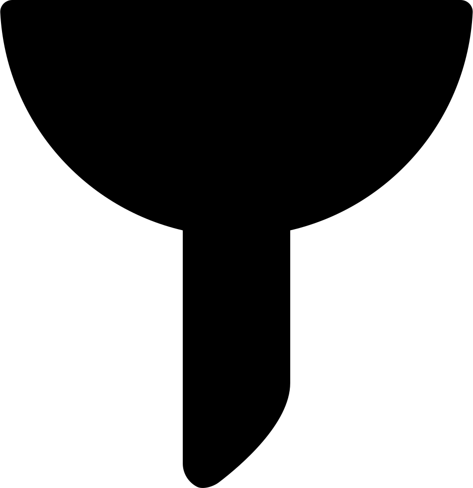 Funnel Black Shape Interface Symbol