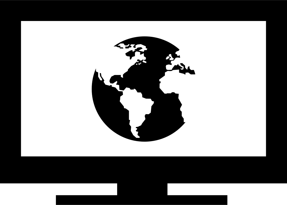 Earth Symbol In Monitor Screen
