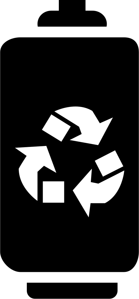 Battery With Recycle Symbol
