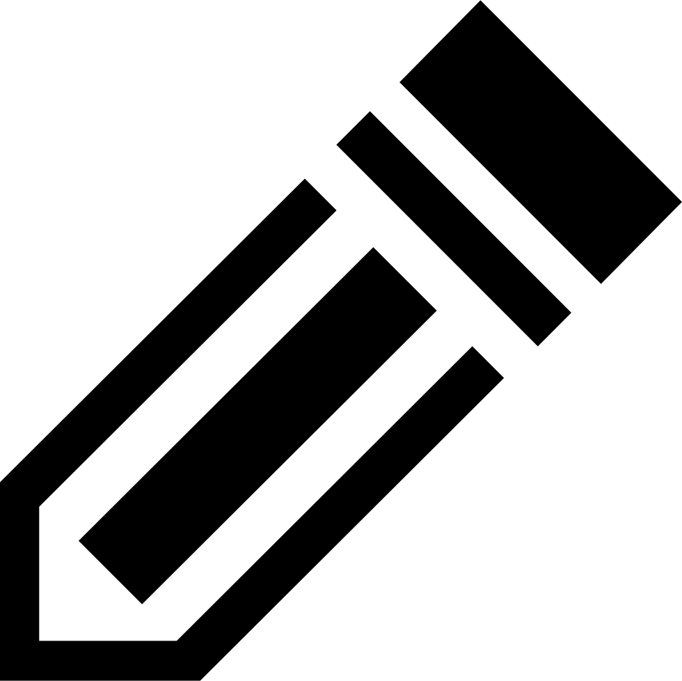 Pencil Striped Diagonal Symbol For Interface Writing Tool