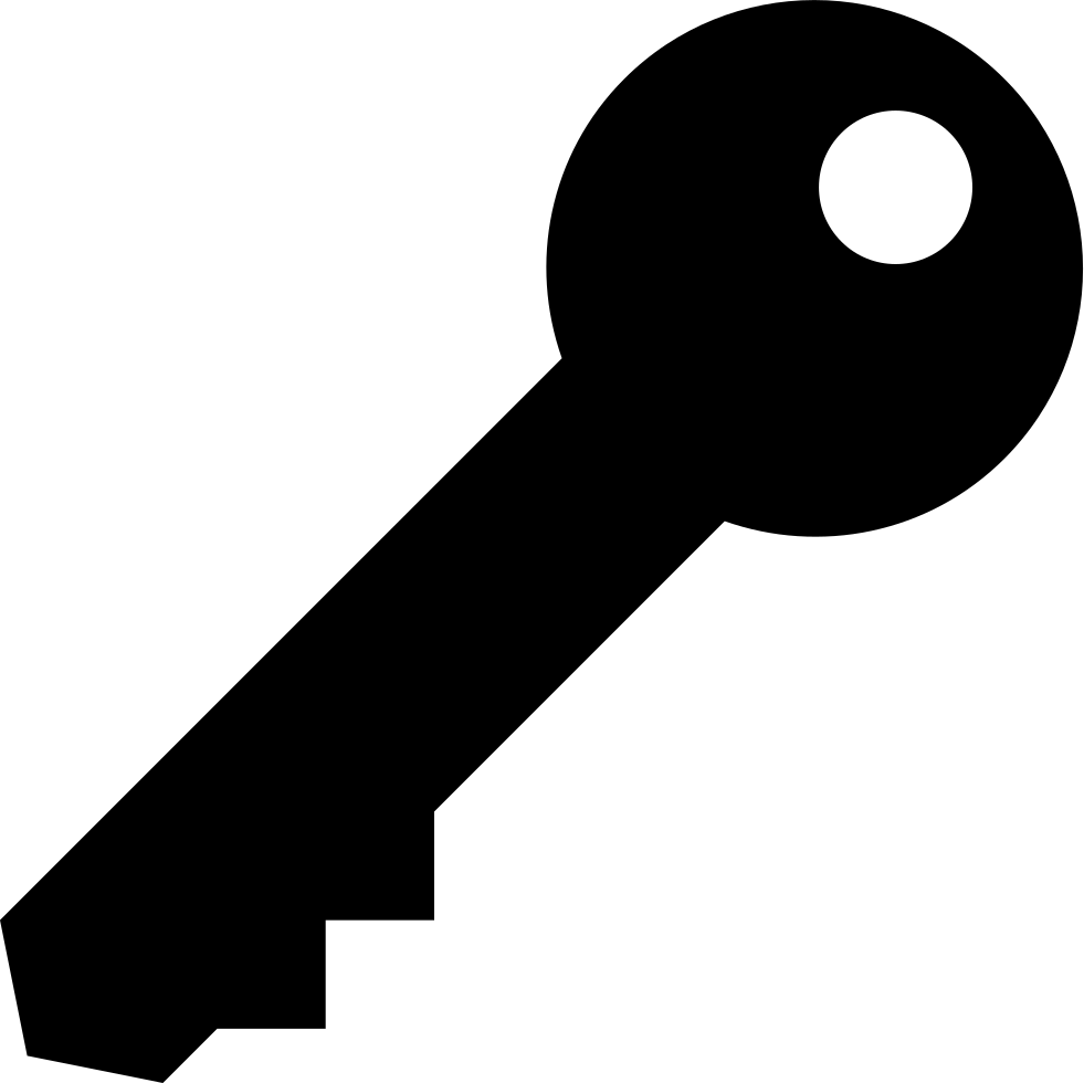 Key Black Shape Rotated In Diagonal To Right