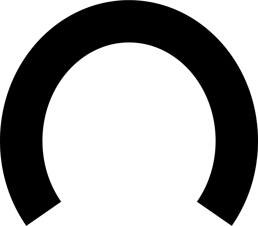 Horseshoe Black Shape Without Holes