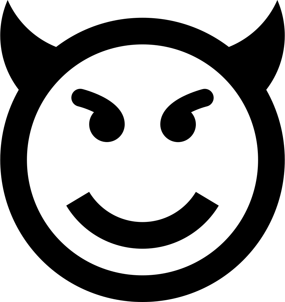 Evil Emoticon Smiley Face