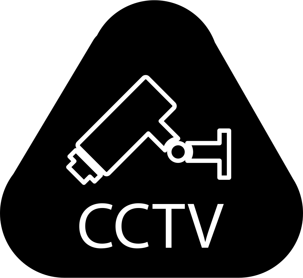 Surveillance Video Camera With Cctv Letters Inside A Rounded Triangle