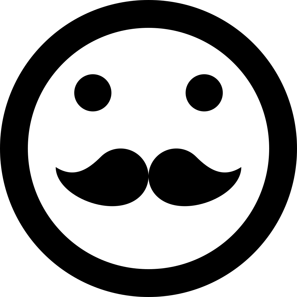 Hipster Emoticon Smiley Mustache Face