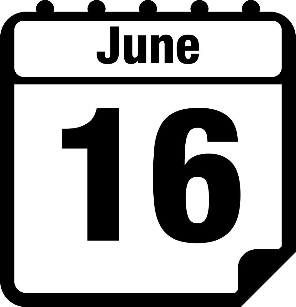 June 16 Daily Calendar Page
