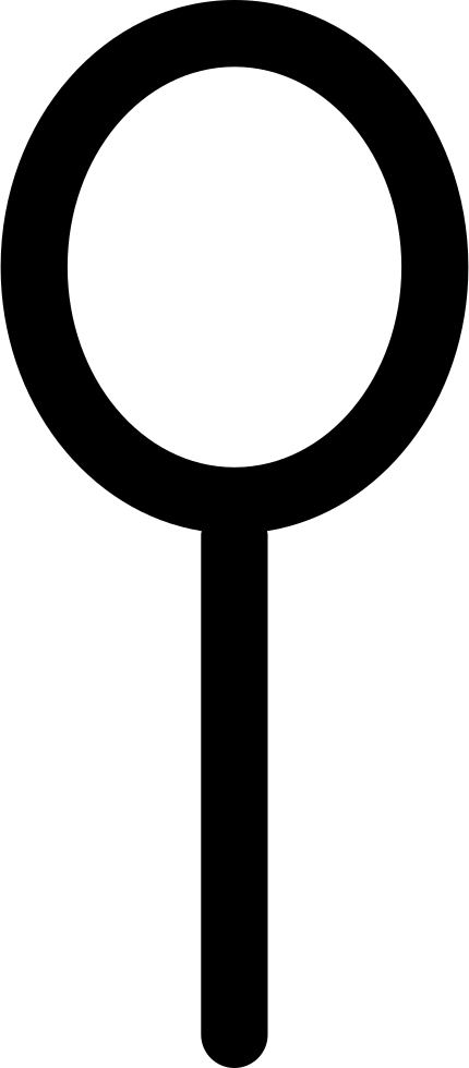 Search Oval Magnification Tool Or Spoon Interface Symbol
