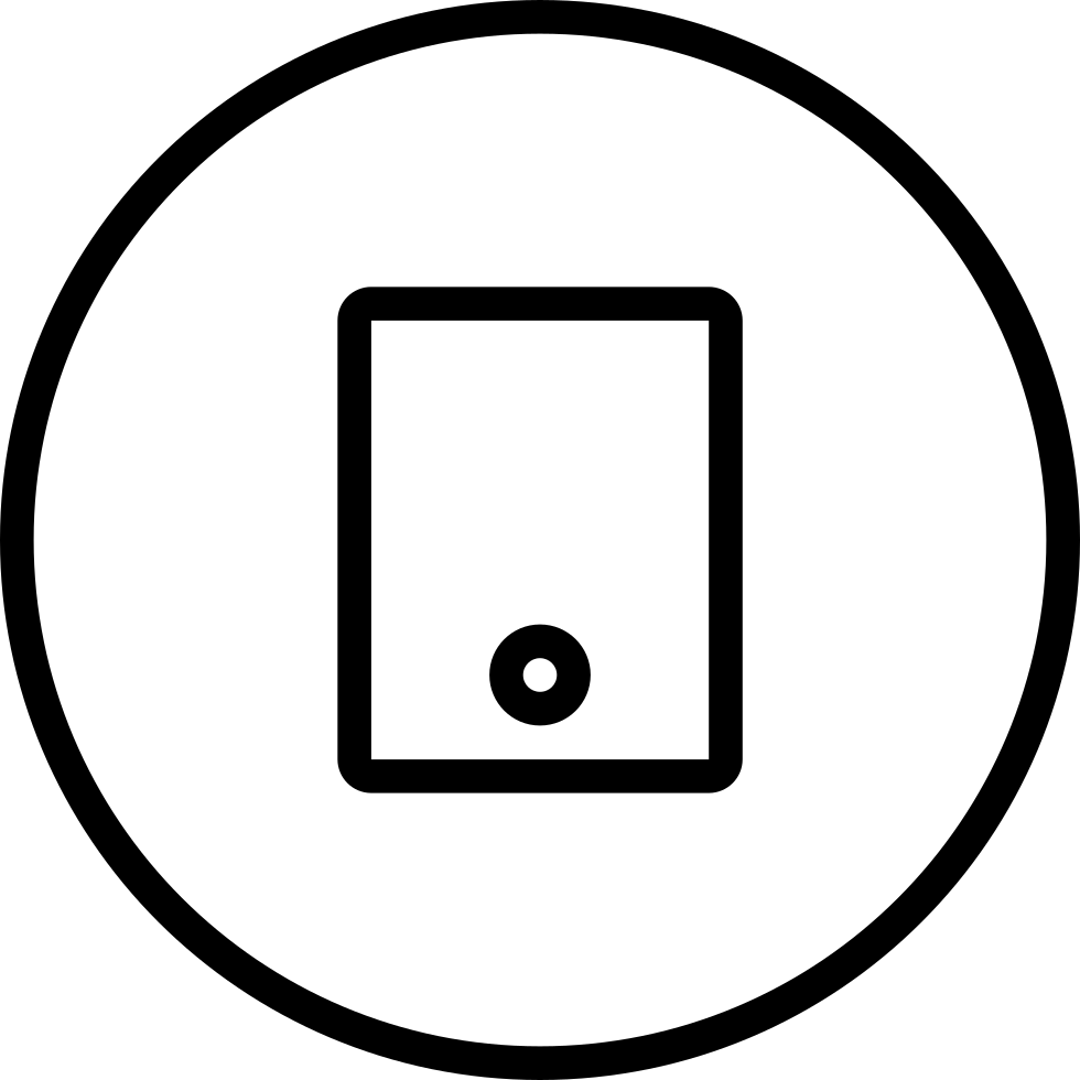 Tablet Tool Circular Button Symbol