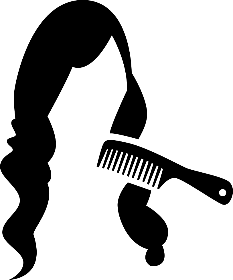Comb On Long Dark Female Hair
