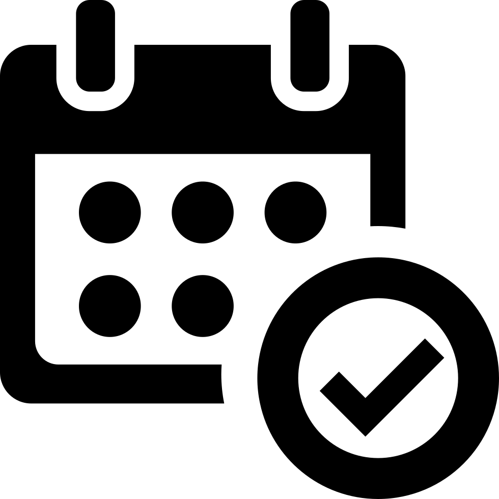 Verified Calendar Interface Symbol