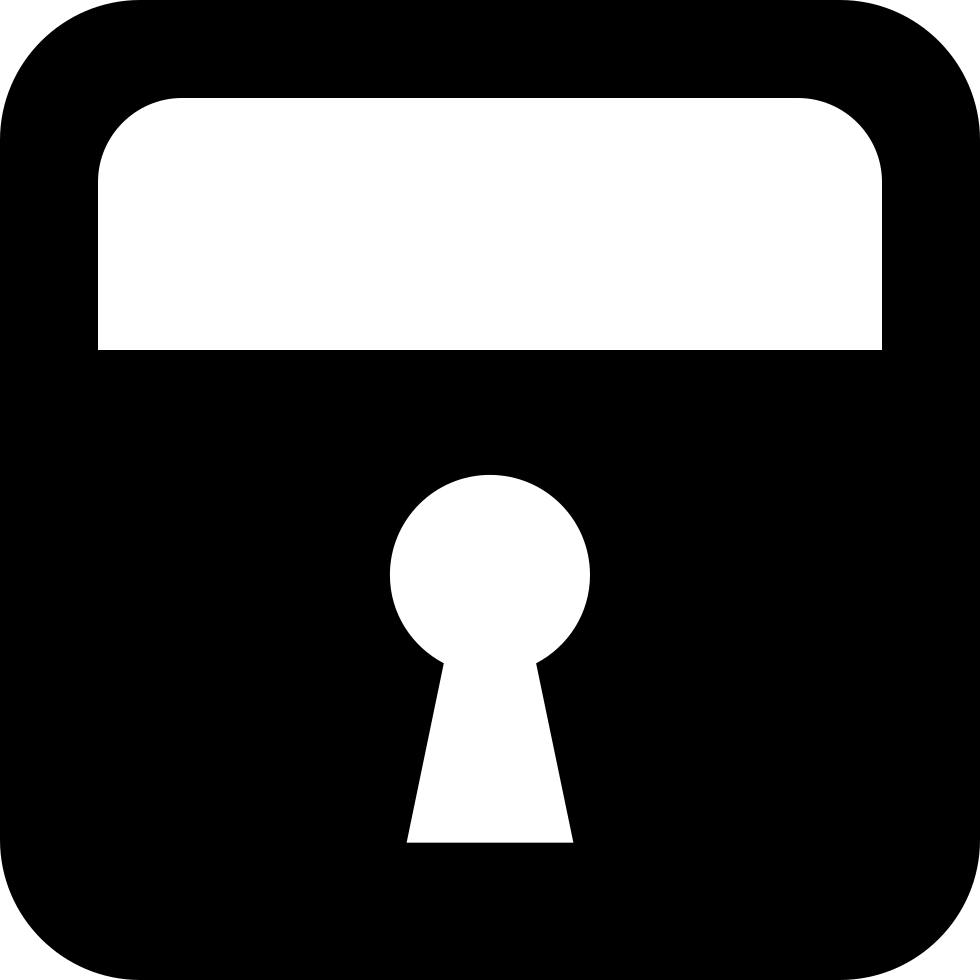 Lock Square Symbol With Keyhole