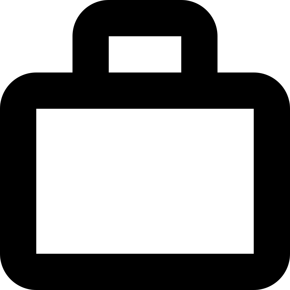 Briefcase Outline Symbol