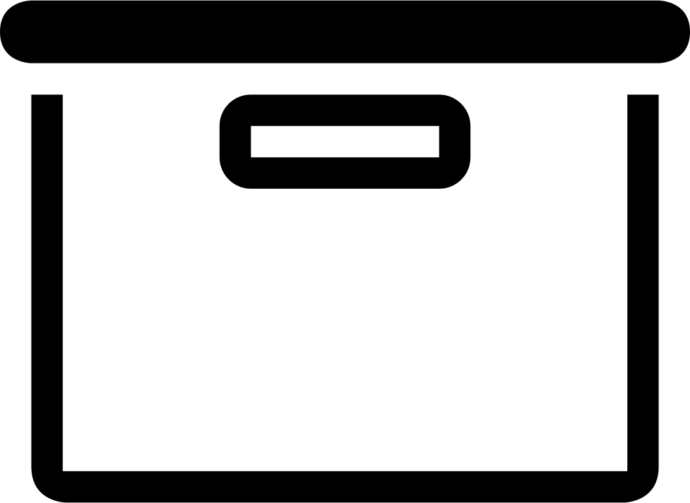 Box Or Drawer Side View Outlined Tool Symbol