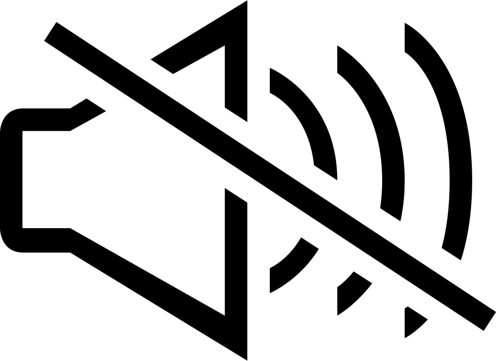 Mute Speaker Audio Interface Symbol