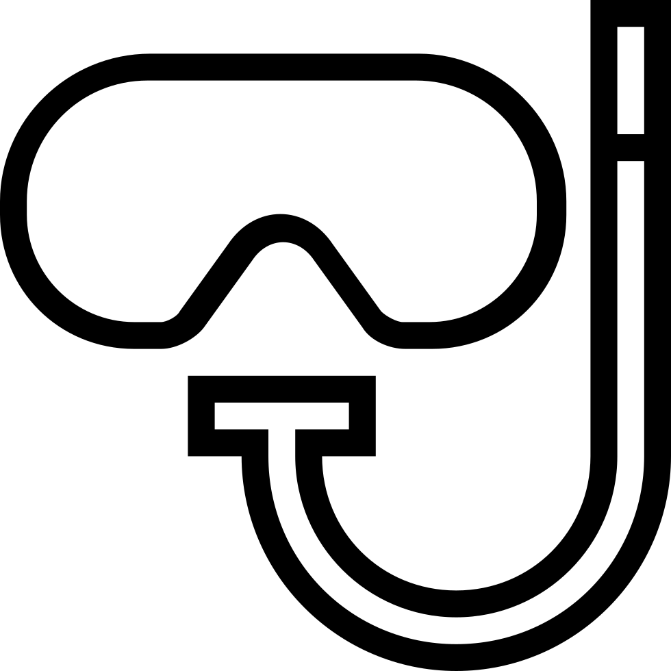 Diving Googles Outlined Sportive Tool Symbol
